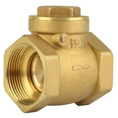 Internal Thread Brass Check-Back Swing Type Horizontal Check Valve 1.6Mpa To 9Q6
