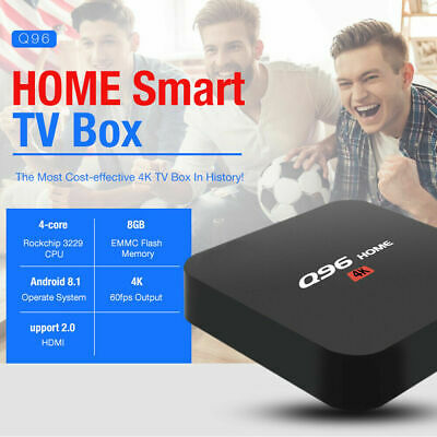 Q96 HOME Android 8.1 4K 1GB + 8GB 2.4GHz WiFi H.264 / H.265 Smart TV Box