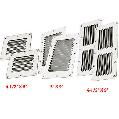 Stainless Steel Stamped Louvered Vent-Rectangular Air Vent for Caravan Boat RGW