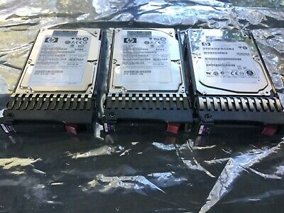 """Lot of 3 HP Proliant Gen7 2.5"""" SAS HDD With Tray 1 x 300Gb and 2 x 146Gb HDD"""