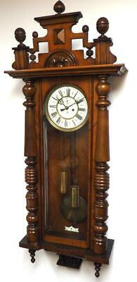 Fine Gustav Becker Walnut 8 Day Striking Twin Weight Regulator Vienna Wall Clock