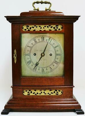 Antique English London Regency 8 Day Twin Fusee Striking Library Bracket Clock