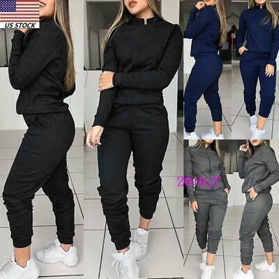 2pcs Women Tracksuit Hoodies Sweats Sweatshirt Pants Sets Sport Wear Casual Suit