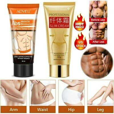 Cellulite Removal ABS Muscle Cream Fat Burner Slimming Gel Weight Loss Men Women