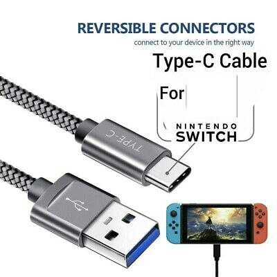 1 Meter USB Charging Cable Type C Lead Charger for Nintendo Switch Power Cord 1M
