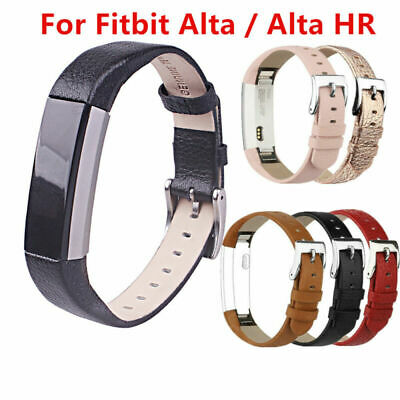 Replacement Leather Watch Strap Wristband Wrist Band For Fitbit Alta / Alta HR
