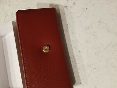 Red Womens Trifold Wallet with picture and card holder slots