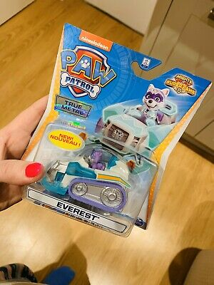 NEW Paw Patrol Mighty Pups Super Paws Everest True Metal Vehicle