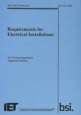 18th edition IET Wiring Regulations,BS 7671:2018(Latest Electrical regulations)