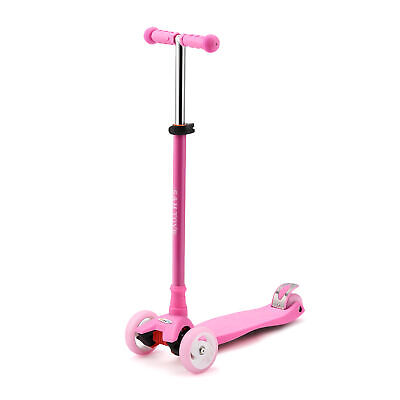 Adjustable Kick Scooter with LED Light Up Jelly Wheels,for 3 to 12 Years Old
