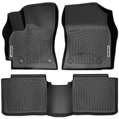 OEDRO Floor Mats Liners TPE fit for Toyota Corolla 2014-2016 All-Weather Black