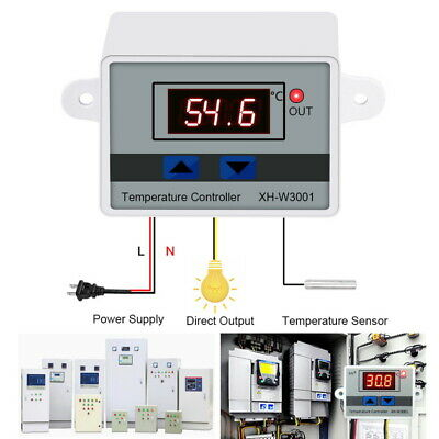 13 Incubator Digital Temperature Controller Thermostat Control With Switch Probe