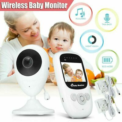 Two Way Audio Baby Monitor Video Wireless Digital TFT LCD Camera Night Vision UK