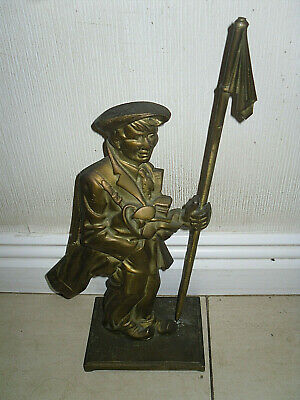 ANTIQUE Large Heavy BRASS GOLFER FIGURE Door Stop LOVELY  DAD GOLF GIFT PRESENT