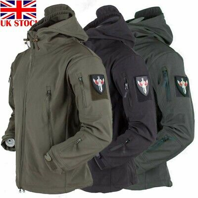 Waterproof Mens Winter Jacket Outdoor Coat Soft Shell Tactical Military Jackets