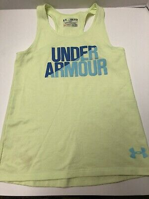 Under Armour Youth Girls Size Small Green Tank Top...VGUC