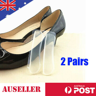 2 Pairs Gel Shoe Pad Protector Silicone Heel Grip Back Liner Insole Foot Care AU