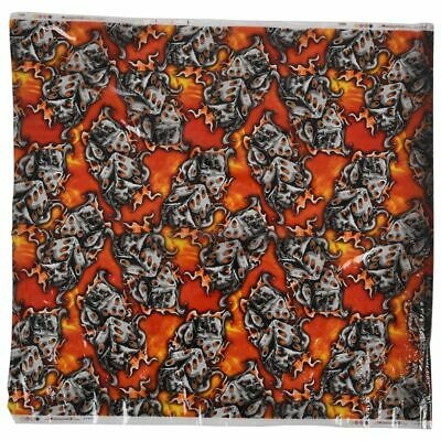 PVA Dipping Hydrographic Water Transfer Printing Sticker Film Dice Flame I7L8