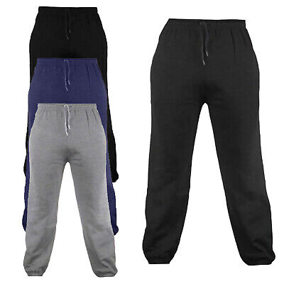 Kids Boys Girls Sports Gym Jogging Joggers Cuff Fleece Trouser Sweat Pants Ages