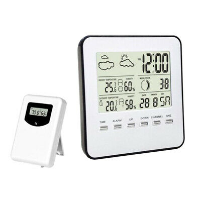 Wireless Digital Weather Station with Forecast/Temperature/Clock/ Moon Phase