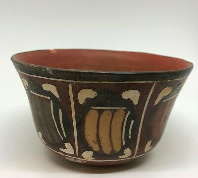 Pre Columbian Nazca Ceramic Bowl With Polychrome Decoration