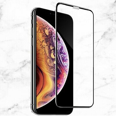 iPhone 11 X XS Full Coverage Black Edge to Edge Tempered Glass Screen Protector