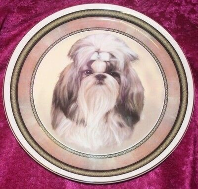 Staffordshire Decorative Plate, SHIH TZU, By Louise Wilde