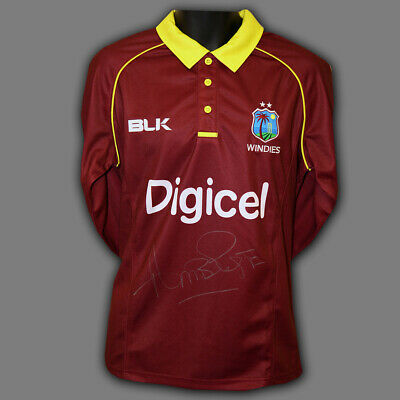 Curtly Ambrose Hand Signed Cricket Shirt :A