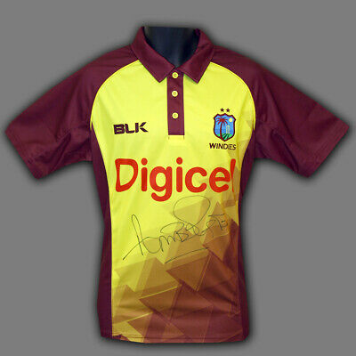 Curtly Ambrose Hand Signed Cricket Shirt : B