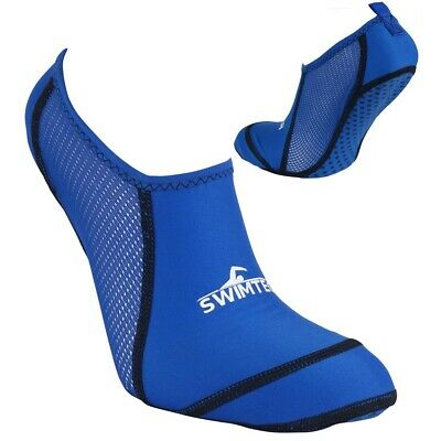 SwimTech Anti Slip Kids Boys Anti Verruca Pool Swimming Water Sock Blue