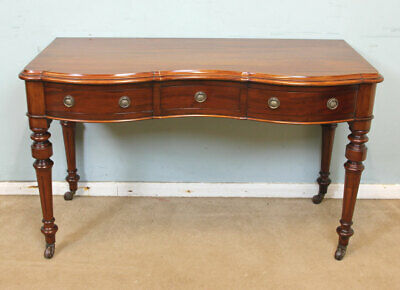 Antique Victorian Mahogany Side Table, Writing Table, Hall Lamp Table