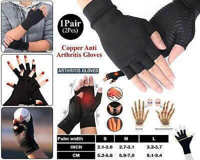 Anti Arthritis Compression Gloves Copper Hand Pain Relief Therapy Wrist Support