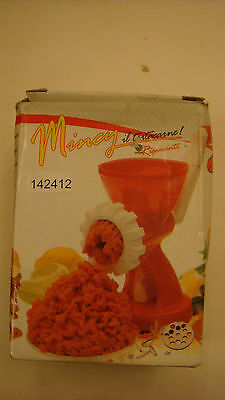 Rigamonti Red/White Mincy Meat Mincer Sausage Nozzle Pasta Cutter Biscuit Cutter