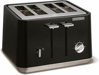 Morphy Richards 240002 Aspect Stainless Steel Four Slice Toaster - Black
