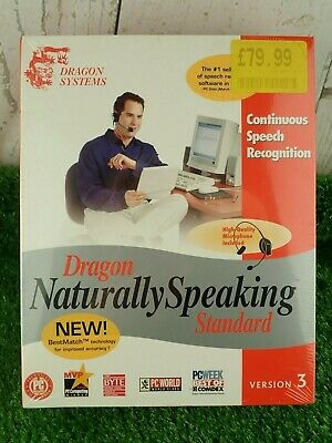 Dragon Naturally Speaking Continuous Speech Recognition Version 3 Sealed New
