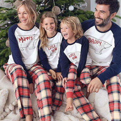 UK Family Matching Adult Kids Christmas Pyjamas Xmas Sleepwear Pajamas PJs Sets