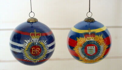 Exquisite and Unique RCT and RLC Christmas Baubles Hand Painted on the Inside