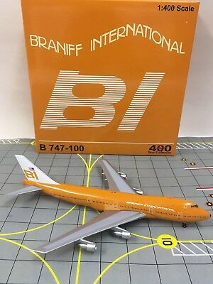 LAST Model Aeroclassics 1:400 Braniff International Boeing 747-100 N601BN