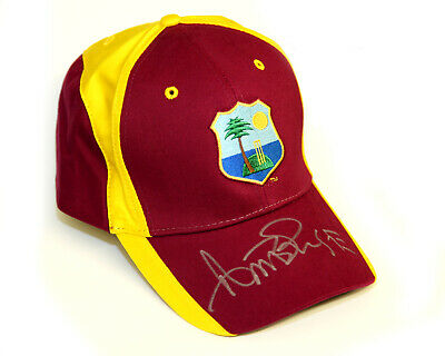 Curtly Ambrose Hand Signed West Indies Cricket Hat: A