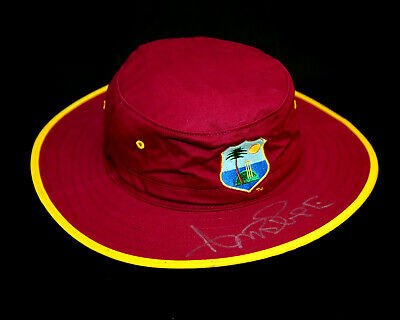 Curtly Ambrose Hand Signed West Indies Cricket Hat: B