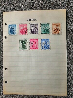 Stamp Collection: 8 used Austrian stamps