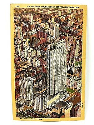 Post Card Rockefeller Center New York City Air View