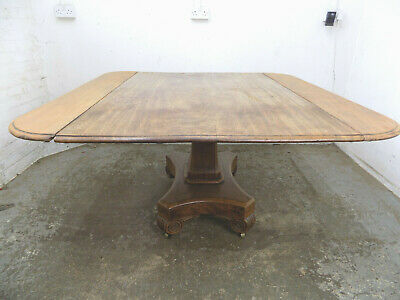 antique,georgian,mahogany,dining table,pedestal table,quad base,table,castors,