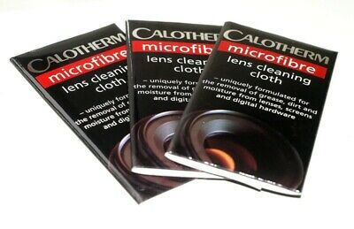 3X Calotherm Microfiber Lens Cleaning Cloths.