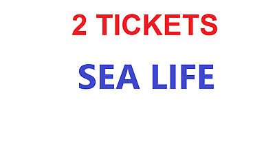 2 Tickets to Sea Life Centres ANY DATE except 25/12