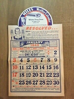 Calendrier publicitaire 1943 US Army WW2
