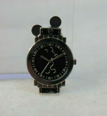 Disney DLR Hidden Mickey 2019 Pin Wrist Watch Face Mouse Black Outline