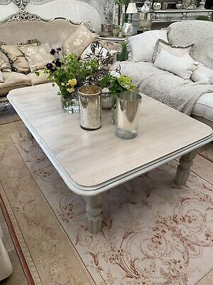Very Large Carved Coffee Table 143cm/102cm Extendable