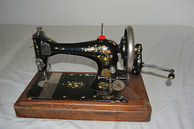 Antique Singer Sewing Machine Patented, Flowers