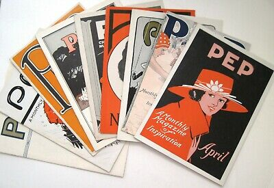 1 Set of (9) PEP Magazines Dated 1919-1924 w/ Great Covers- La Crosse Clothes*